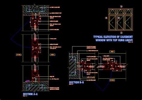 aluminium frame casement window dwg block  autocad designs cad