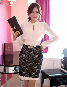 36 best Korean Office Lady Style images on Pinterest   Business outfits Office looks and Ladies ...