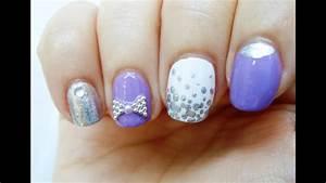 diseño de uñas morado pastel primavera nail design