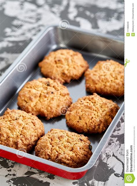 biscuits baked fresh shallow selective depth cookie focus sheet field close bakeware bakery