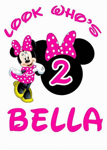 Birthday Minnie Mouse 2nd Clipart Party Happy