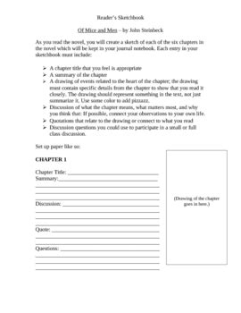 of mice and chapter worksheet for lower level by jaime