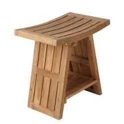 Teak Wood Shower Bench Photo