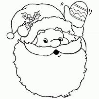 hd wallpapers santa beard coloring page