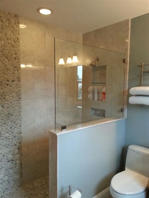 Shower Designs For Small Bathrooms by Doorless Walk In Shower Complete Bathroom Remodel