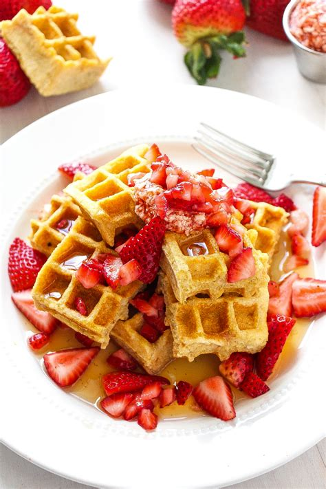 Strawberry Jam Swirled Waffles - Layers of Happiness