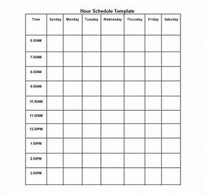 7 Day Week Schedule Template Hourly Schedule Template 11 Free Sample Example Format