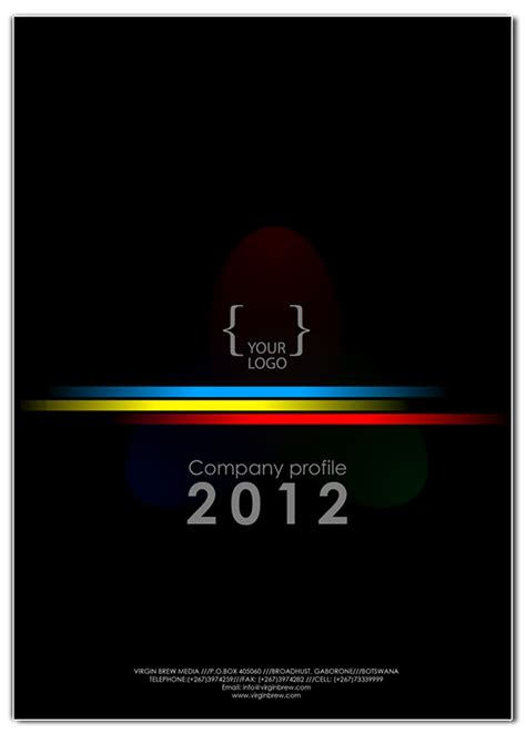 company profile cover design templates  behance