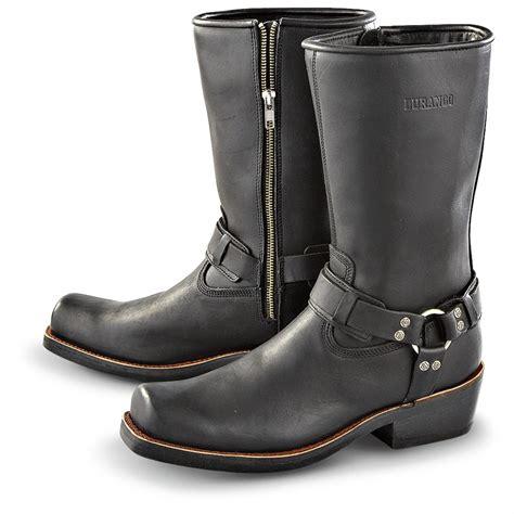 zipper motorcycle boots men 39 s durango boot side zip harness boots black