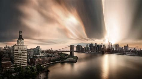 Manhattan City Hot Humid Afternoon Wallpaper Hd For
