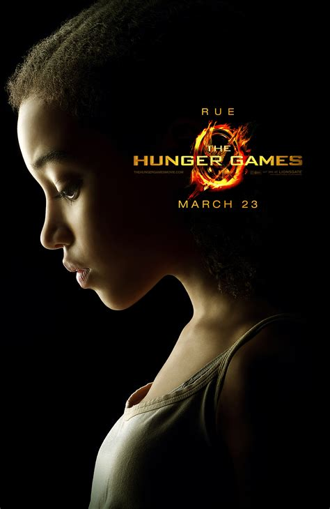 hunger rue the hunger games character posters collider