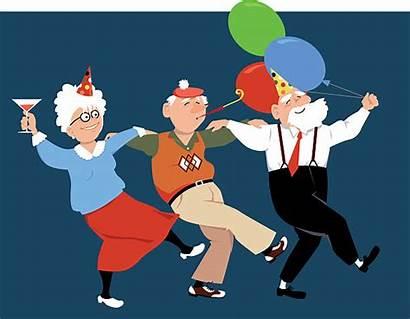 Fun Having Happy Seniors Vector Holidays Illustrations