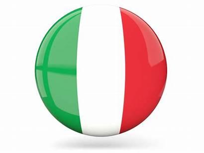 Italy Round Icon Glossy Flag Italia Flags