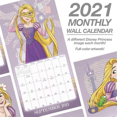 disney princess  monthly wall calendar  youloveitcom