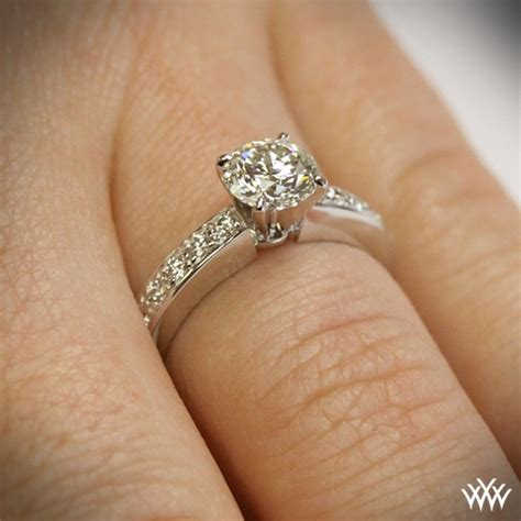 Bead Set Diamond Engagement Ring  1065. Contemporary Rings. Topaz Texas Engagement Rings. Flotation Rings. 1.75 Carat Wedding Rings. $600 Engagement Rings. Rounded Rectangle Rings. Red Black Rings. Woodland Wedding Wedding Rings