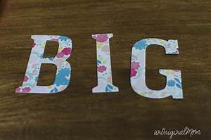 quotdream big little girlquot ombre painted canvas art With extra large chipboard letters