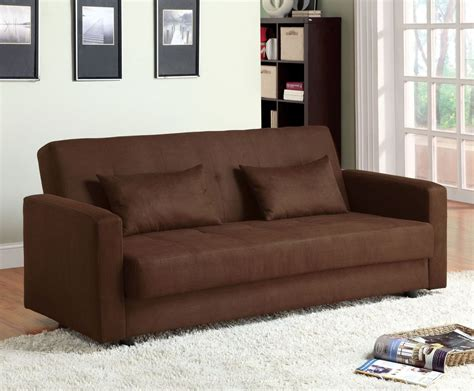 jansen microfiber futon storage sofa  furniture