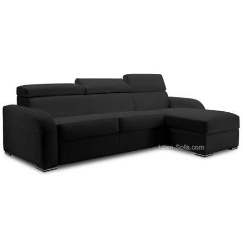 canapé d angle avec appui tête canapé lit d 39 angle réversible cuir avec appuis têtes