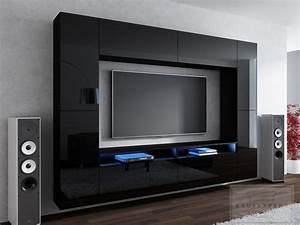 Moderne Tv Wand : kaufexpert wohnwand cinema schwarz hochglanz 280 cm mediawand medienwand design modern led ~ Sanjose-hotels-ca.com Haus und Dekorationen
