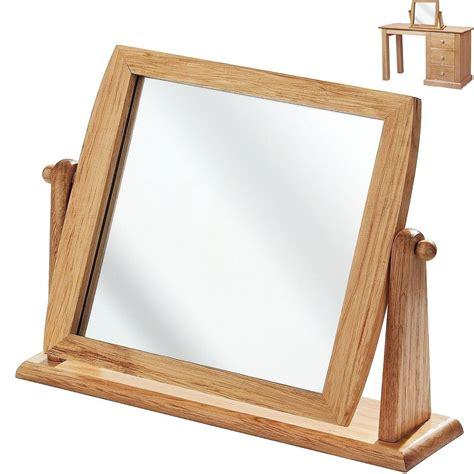 wooden dressing table mirror bathroom shaving makeup wood