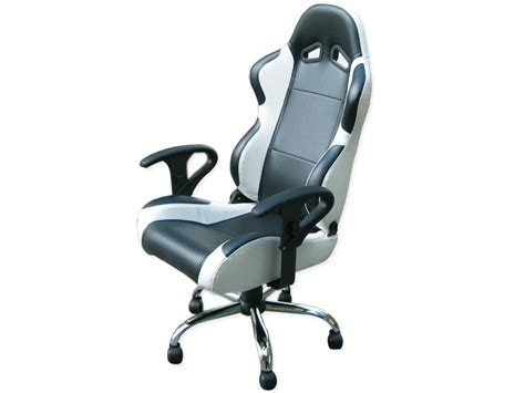 chaise de bureau cuir blanc siege baquet fauteuil de bureau chaise de bureau baquet