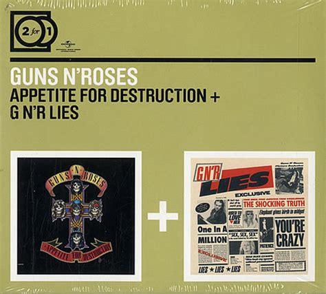 Guns N Roses Appetite For Destruction / G N' R Lies France