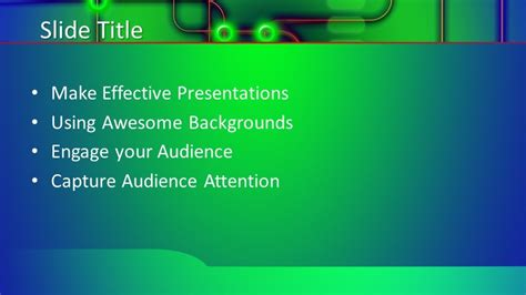 green tech powerpoint template  powerpoint