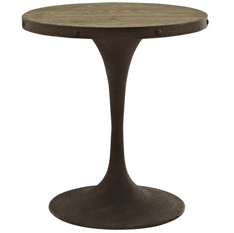 Wood Pedestal Base by Drive Rustic 28 Quot Wood Top Dining Table W Iron