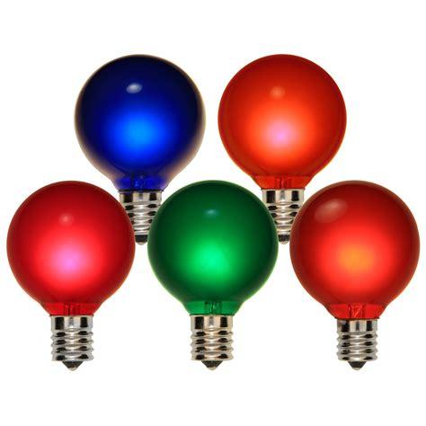 g50 christmas light bulbs christmas lights g50 satin multicolor 7 watt