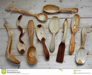 Hand carved wooden spoons stock image Image of spatula