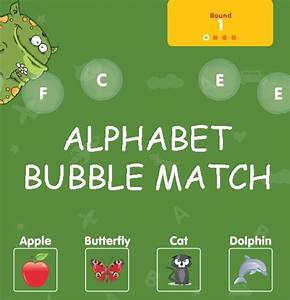 fun free online game for kids to practice letters make With letter bubble pop