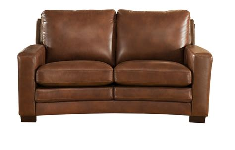 And Loveseat by Joanna Top Grain Brown Leather Loveseat