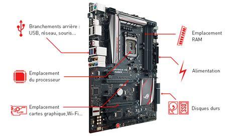 tour pc bureau carte mère le format et le socket composants intégrés