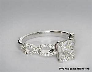 engagement wedding rings With infinity twist micropavé diamond wedding ring