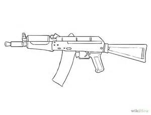 Machine Gun Drawings Easy