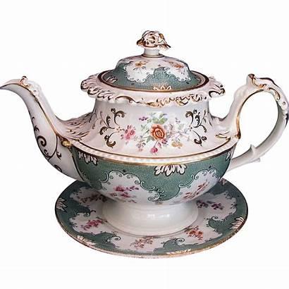 Teapot Tea Teapots Porcelain Antique English Stand
