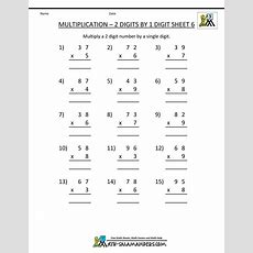 Multiplication Practice Worksheets Grade 3
