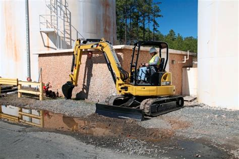 cat  cr mini hydraulic excavator  ton  hp specification  features