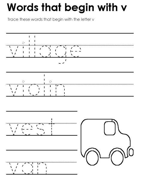 Letter V Worksheets For Kindergarten Worksheets For All