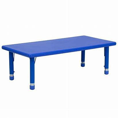 Table Rectangular Furniture Adjustable Activity Height Chairs