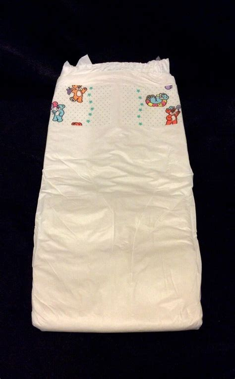Vintage Pampers Baby Dry Brand Stretch Plastic Baby Diaper
