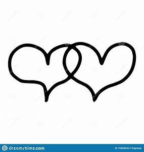 2 Overlapping Hearts  Overlapping Hearts Manual Contour