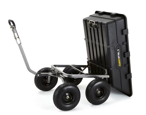 Gorilla Carts Extra Heavy-duty Poly Dump Cart