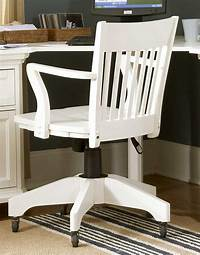white wood desk chair White Swivel Chair Wooden Desk — The Home Redesign : White ...