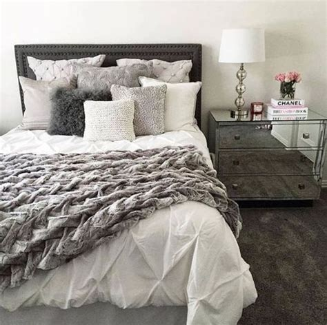 cozy bedroom in grey with beautiful home decorations 25 best ideas about white grey bedrooms on pinterest grey bedrooms grey bedroom decor and