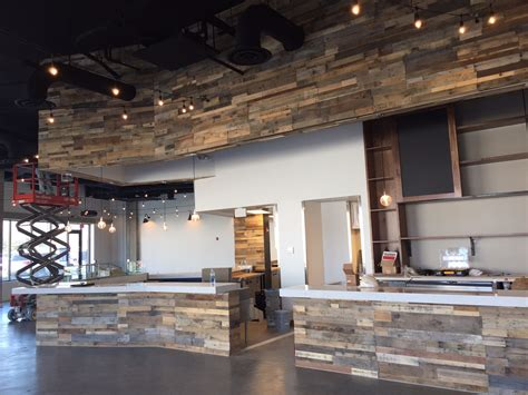 easy install pallet wood wall sustainable lumber company