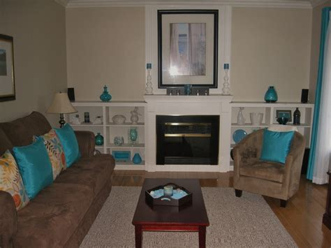 living room in teal and chocolate brown lovely living rooms interior living