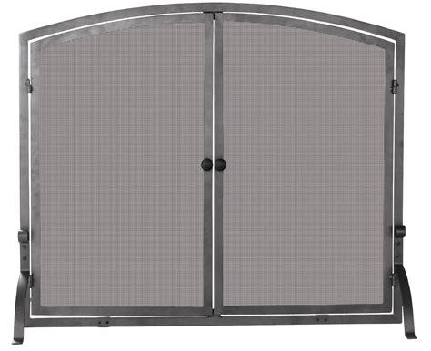 Blue Rhino S-1142 Single Panel Fireplace Screen With Doors