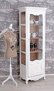Wohnzimmermöbel Weiß Holz : details zu retro vitrine schrank hochschrank vintage vitrinenschrank antik weiss shabby ~ Frokenaadalensverden.com Haus und Dekorationen