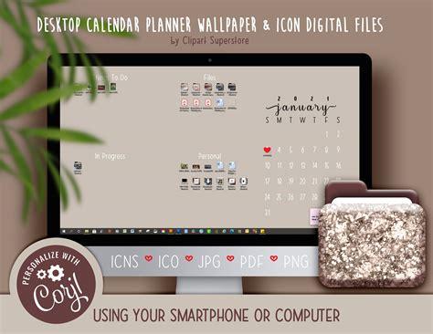 desktop calendar wallpaper organizer planner  icon etsy desktop calendar calendar